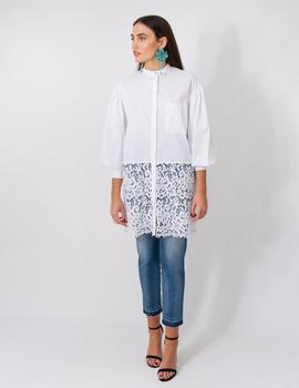 Camisa Isabelle Blanche Popeline Balza Macrame para Mujer